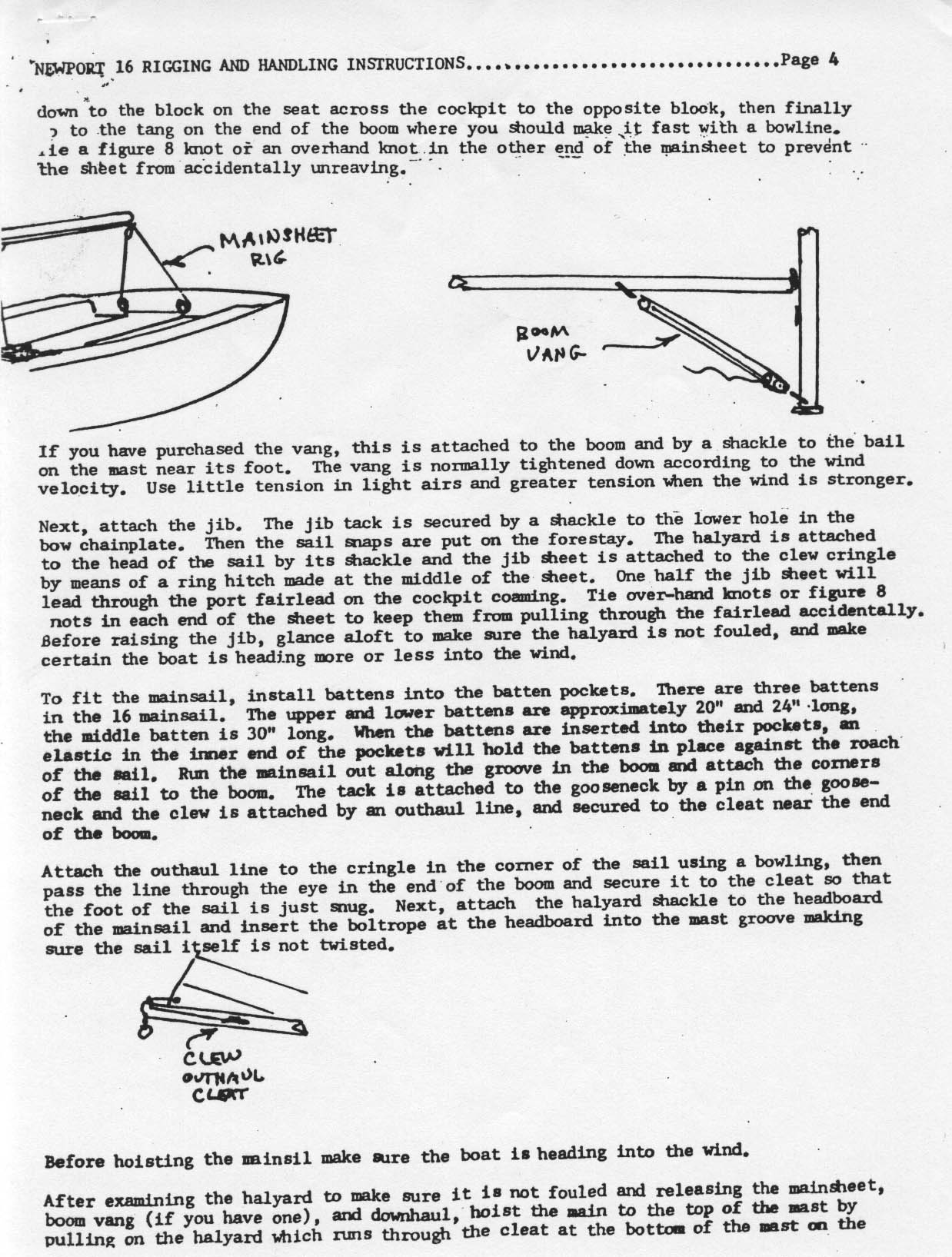 Newport Resources Running Bowline Knot Diagram And Boat Pictures