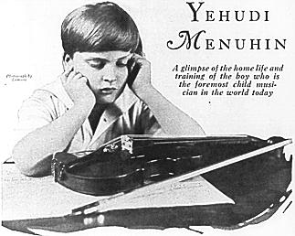 Photo/Illustration of Yehudi Menuhin as a boy